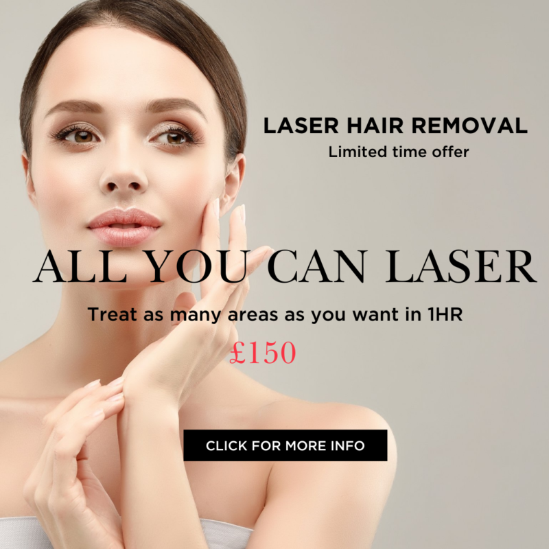 Laser Hair Removal IPL Offer for all. limited time offer. Laser as many areas as you want in 60mins. Photo of smooth and flawless model